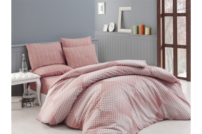 Classic Bedlinen Set - Yakamoz Somon / New Season