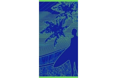 Beach Towel - Blue Shadow