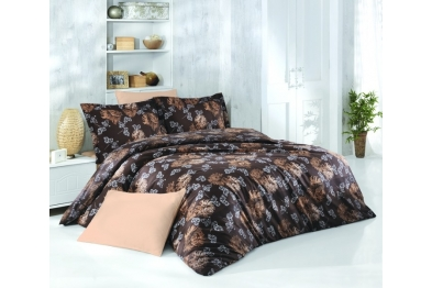 Satin Bedlinen - Talia Coffee
