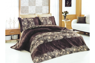 Satin Bedlinen - Ivory Coffee