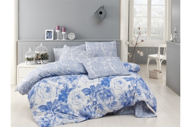 Classic Bedlinen Set - Rosa Mavi / New Season